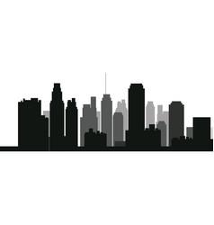 silhouette skyscraper building urban skyline vector image