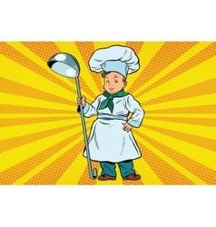 The little boy cook vector
