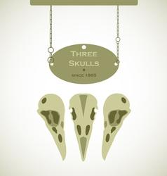 Three Skulls Signs vector image