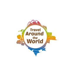 Travel Around The World Logo vector image vector image