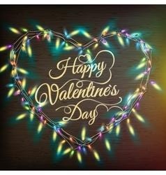 Valentine s heart-shaped wreath eps 10 vector