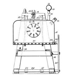 Washing machine vintage vector