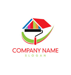 Paint company logo vector