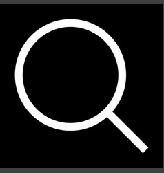 Magnifying glass or loupe the white color icon vector