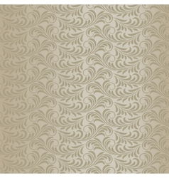 Beige baroque pattern vector