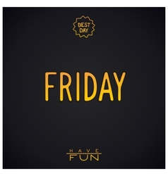 Gold lettering - friday vector