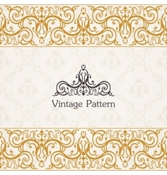 Background invitation vintage label floral frame vector