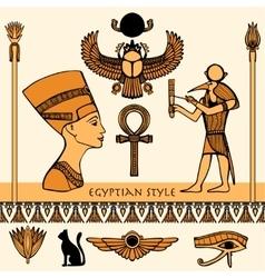 Egypt color set vector
