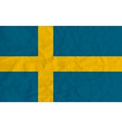Sweden paper flag vector