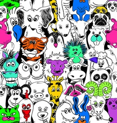 Colorful bright seamless pattern with animals vector