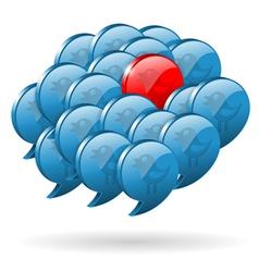 Special Opinion - Social Media Concept vector image