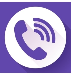Incoming phone call icon vector
