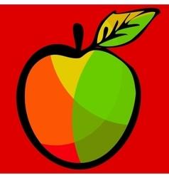 Apple for web design vector
