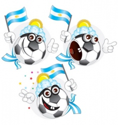 argentinian cartoon ball vector image vector image