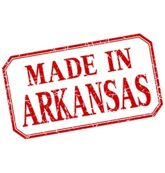 Arkansas - made in red vintage isolated label vector