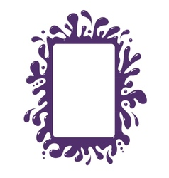 blot frame pattern isolated vector image