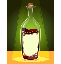 Bottle of wine vector image