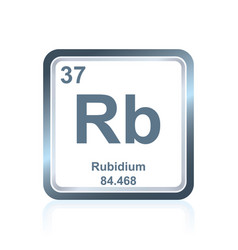 Chemical element rubidium from the periodic table vector