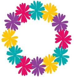 Daisy wreath vector