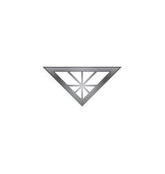 diamond logo vector image vector image