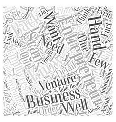 Entrepreneur scan word cloud concept vector