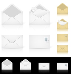 envelope mail set vector image vector image