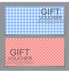 Gift Voucher Template with abstract background vector image