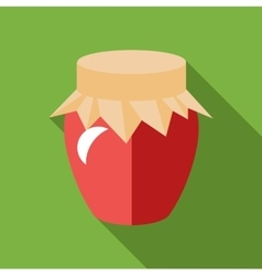 Jar of jam icon flat style vector image