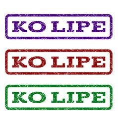 ko lipe watermark stamp vector image