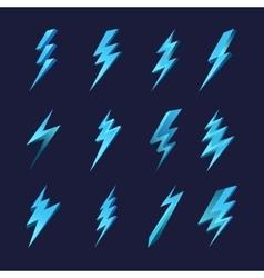 Lightning icon set vector