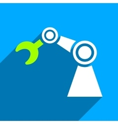 Manipulator flat square icon with long shadow vector