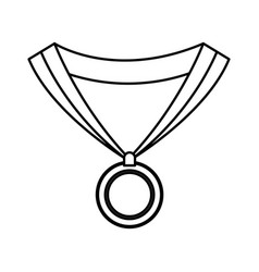 Medal award win sport image outline vector