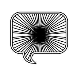 monochrome silhouette with rounded rectangle vector image