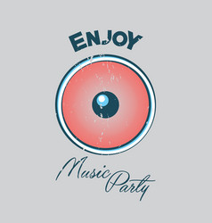 music party poster vector image vector image