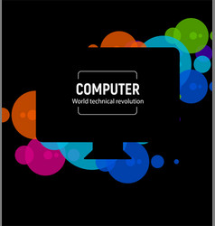 New isolated black computer the latest vector