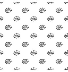Ouch speech cloud pattern vector