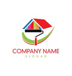paint company logo vector image