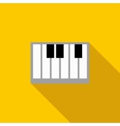 Piano keys icon flat style vector image vector image