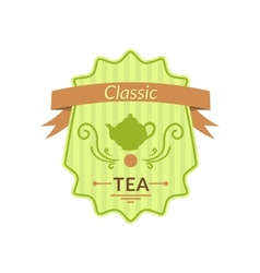 Retro tea label vector image