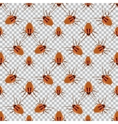 Seamless pattern cockroach on a checkered vector
