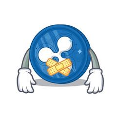 Silent ripple coin character cartoon vector