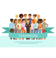 social group on the work office people in casual vector image vector image