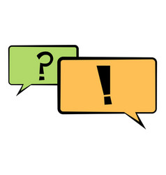 speech bubbles icon cartoon vector image