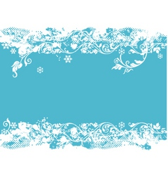 teal Christmas vector image vector image