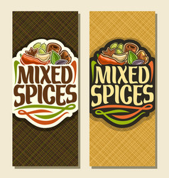 Vertical banners for spices vector