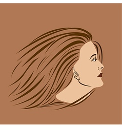 woman side vector image