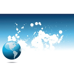 Abstract world background vector image