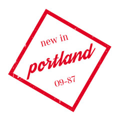 New in portland rubber stamp vector