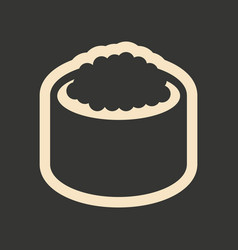 flat in black and white mobile application sushi vector image