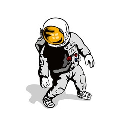 Astronaut retro vector